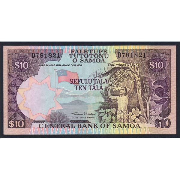 "SAMOA 10 Tala. 2002. Sig Malielegaoi. SOLID THREAD W/O TEXT. Prefix ""D"""