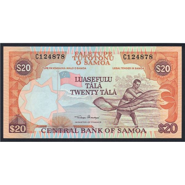 "SAMOA 20 Tala. 2002. Sig Malielegaoi. SOLID THREAD W/O TEXT. Prefix ""C"""