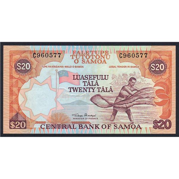 "SAMOA 20 Tala. 2002. Sig Malielegaoi. SOLID THREAD WITH ""CBS"". Prefix ""C"" (Unlisted)"