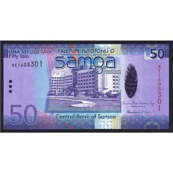 SAMOA 50 Tala. 2012. 50TH ANNIVERSARY OF INDEPENDENCE