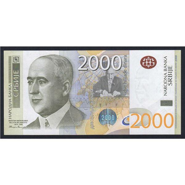 SERBIA 2000 Dinara. 2011. SCARCE HIGH VALUE