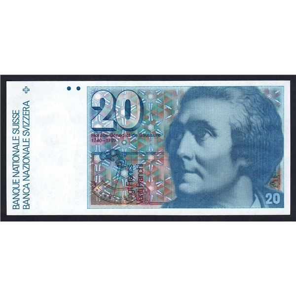 SWITZERLAND 20 Franken. 1982. Sig 53