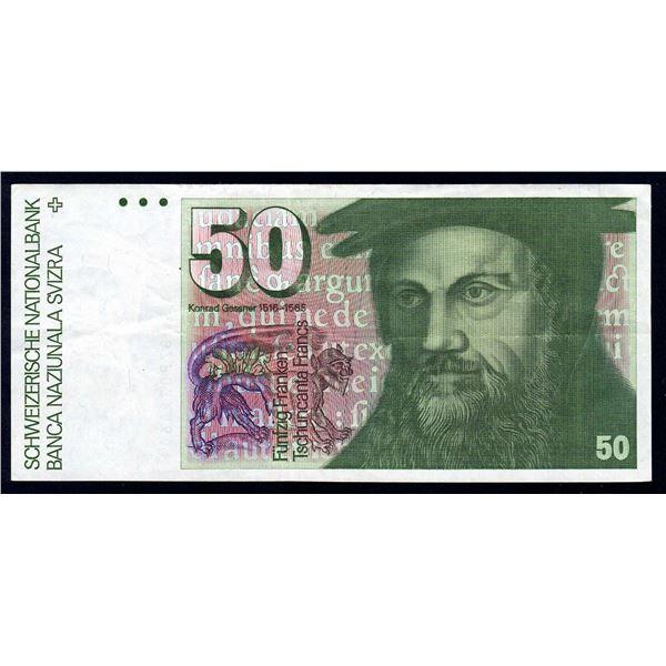 SWITZERLAND 50 Franken. 1987. Sig 59