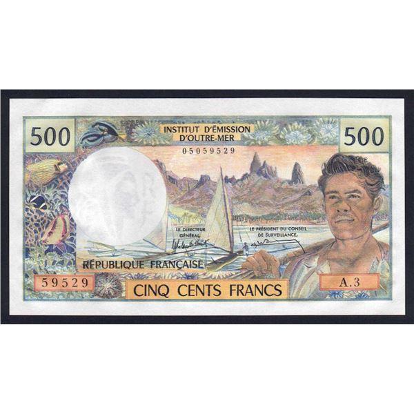 TAHITI 500 Francs. 1985. Sig Rolland Billecart-Waitzenegger