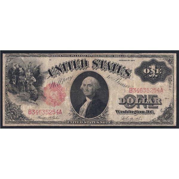 USA United States Note. 1 Dollar. 1917. Sig Teehee-Burke