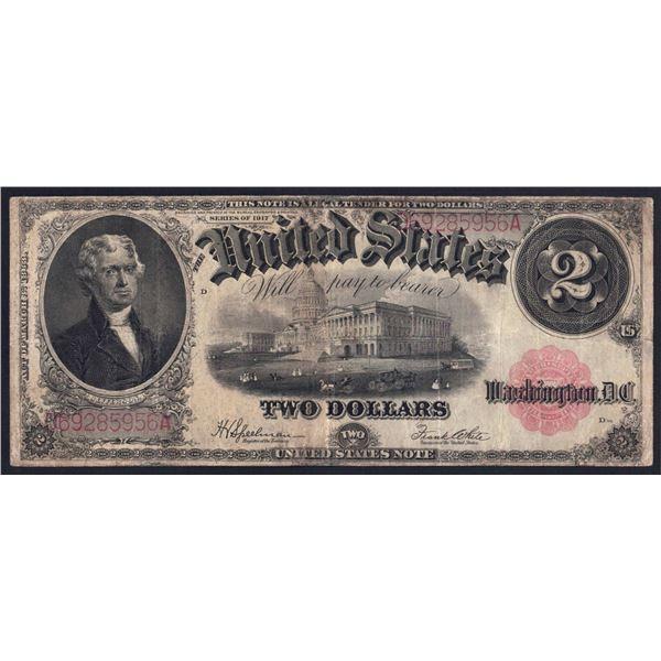 USA United States Note. 2 Dollars. 1917. Sig Speelman-White