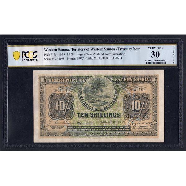 WESTERN SAMOA 10 Shillings. 24.6.1959. Sig Mathison-Cook