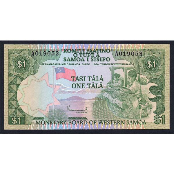 """WESTERN SAMOA 1 Tala. 1980. Sig Vaovasamanaia. PREFIX """"A""""    ."""