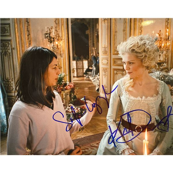 Marie Antoinette Kirsten Dunst and Sofia Coppola signed movie photo