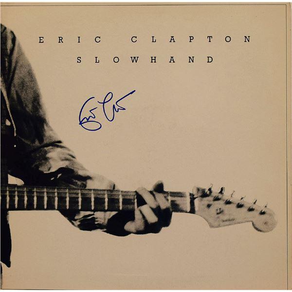 Eric Clapton signed Slowhand album