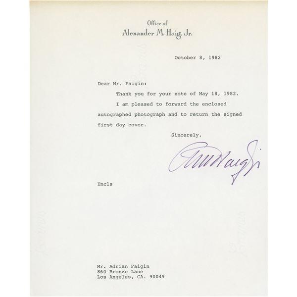 Alexander Haig signed letter