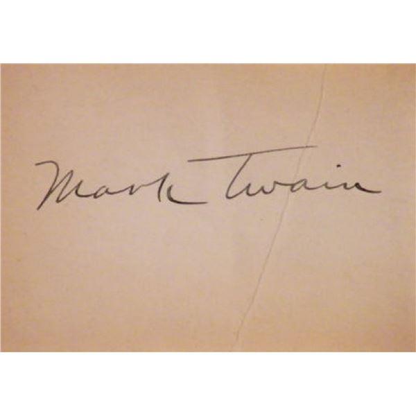 Mark Twain signature slip