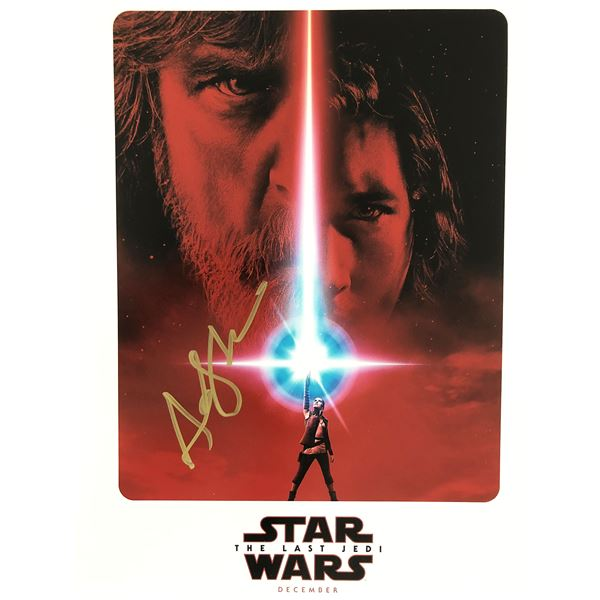 Star Wars: The Last Jedi Andy Serkis signed movie poster