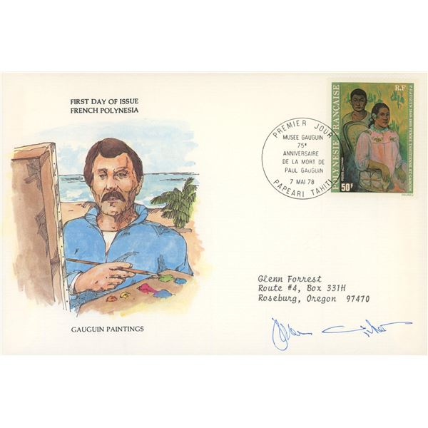 Jamie Wyeth signed first day cover