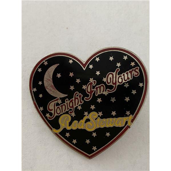 Rod Stewart Tonight I'm Yours vintage tour pin