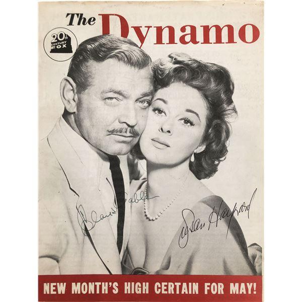 "Clark Gable and Susan Hayward signed ""Dynamo"" magazine"