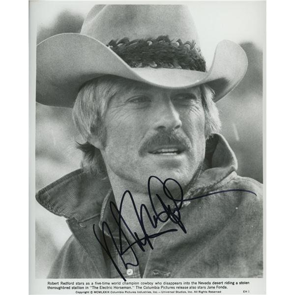 Robert Redford signed movie photo.