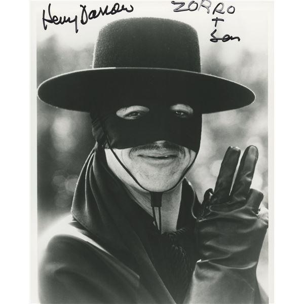 "Henry Darrow signed ""Zorro and Son"" television photo"