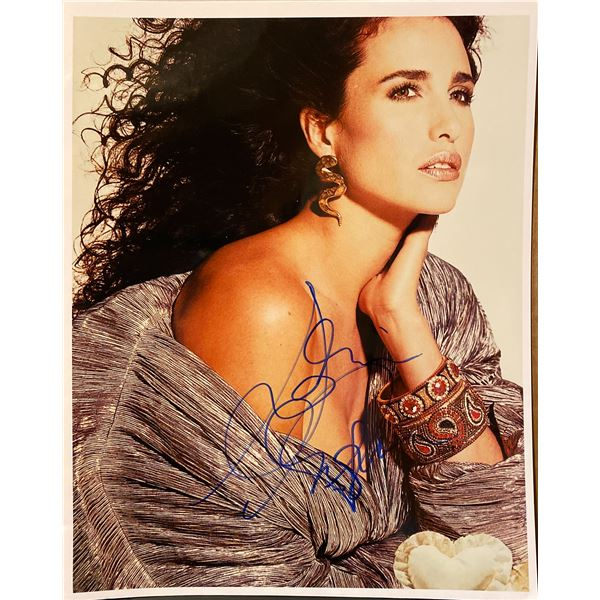 Andie MacDowell signed photo