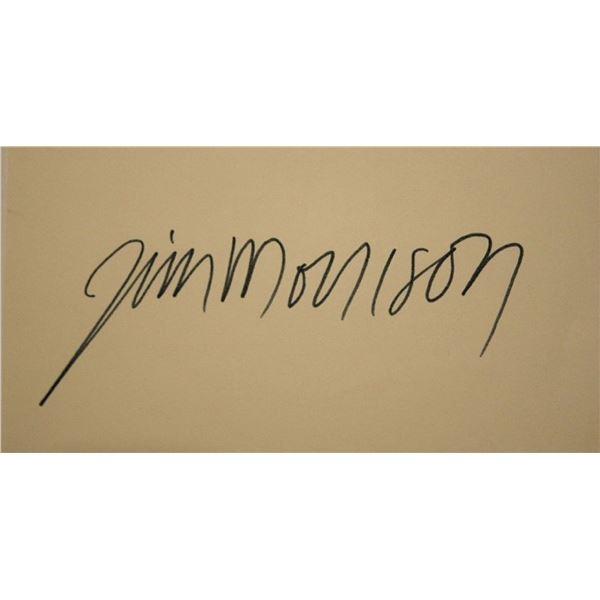 Jim Morrison signature slip