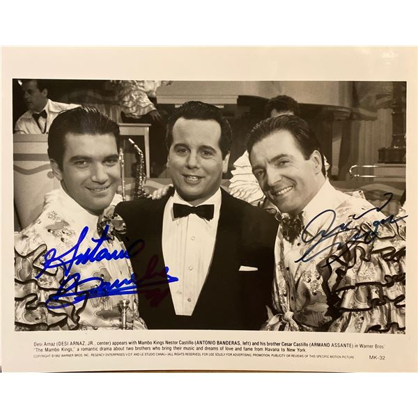 The Mambo Kings Armand Assante and Antonio Banderas signed movie photo