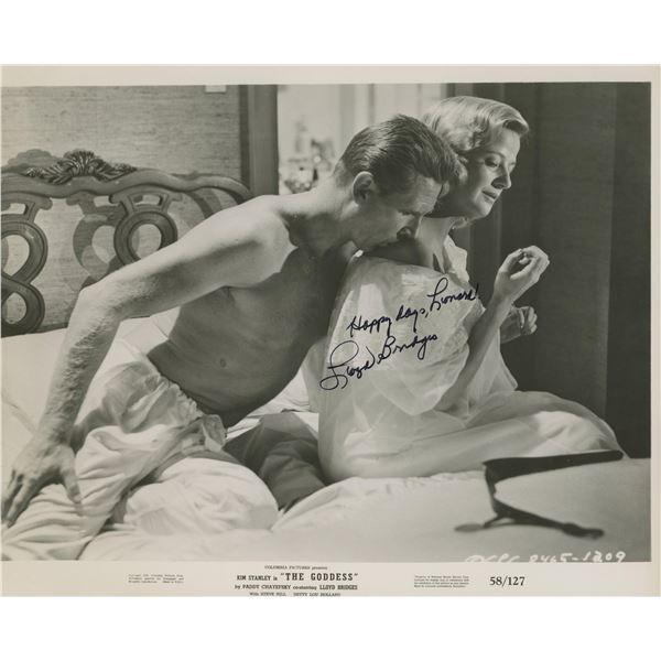 """Lloyd Bridges signed """"The Goddess"""" movie photo"""