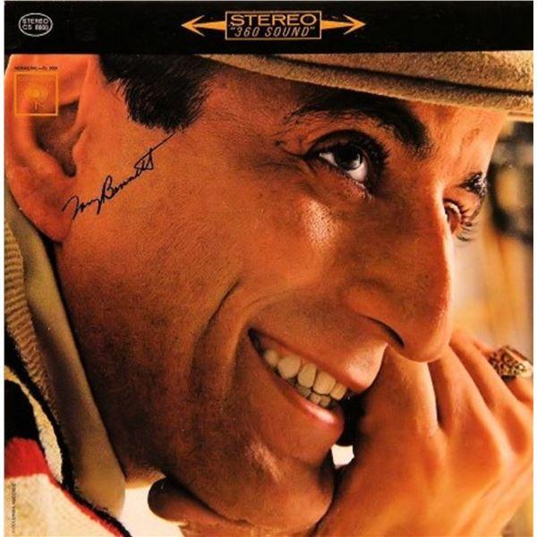 "Tony Bennett signed ""I Wanna Be Around"" album"