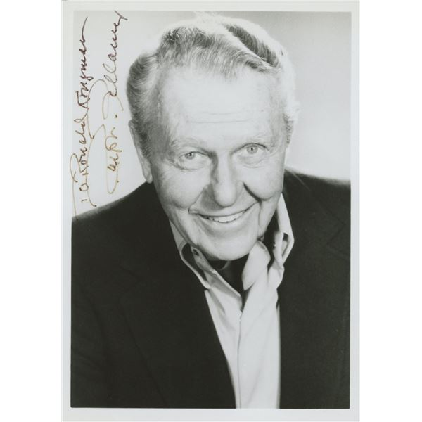 Ralph Bellamy signed photo