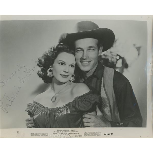 "Patricia Medina signed ""The Beast of Hollow Mountain"" movie photo"