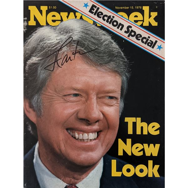 Newsweek Magazine 1976 Election Special signed by Jimmy Carter