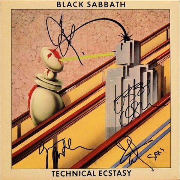 Black Sabbath signed Technical Ecstasy album