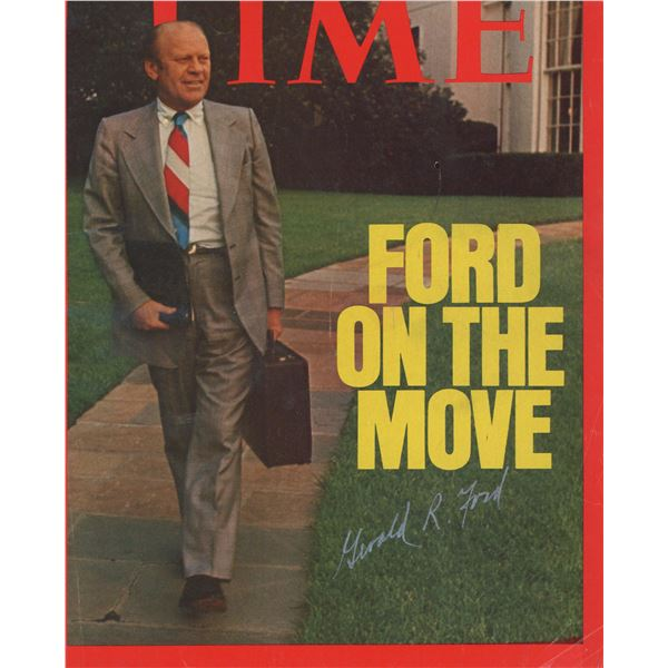 Gerald Ford signed Time magazine