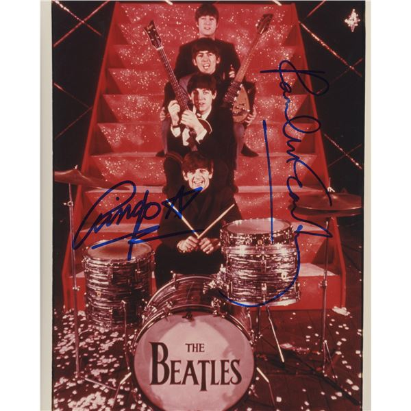 The Beatles vintage photo autographed by Paul McCartney and Ringo Starr