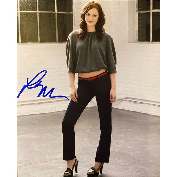 Leighton Meester signed photo