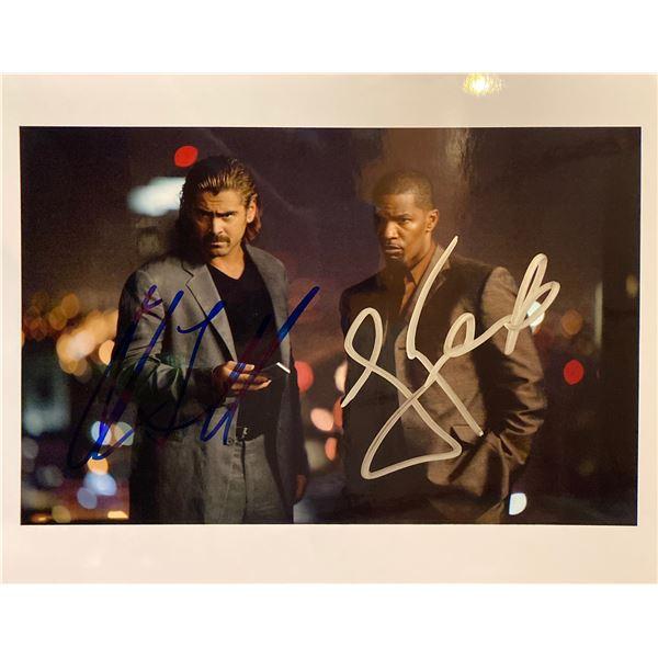 Miami Vice Colin Farrrell and Jamie Foxx signed movie photo