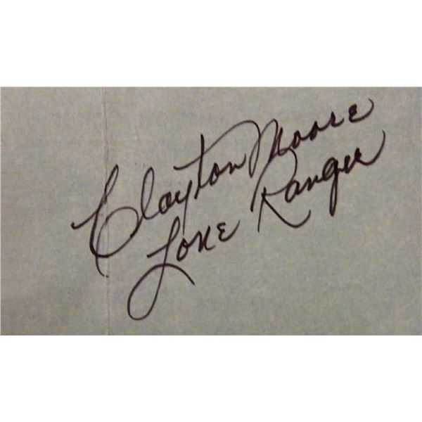 The Lone Ranger Clayton Moore signature slip