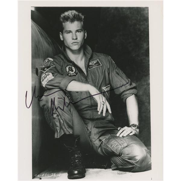 """Val Kilmer signed """"Top Gun"""" movie photo"""