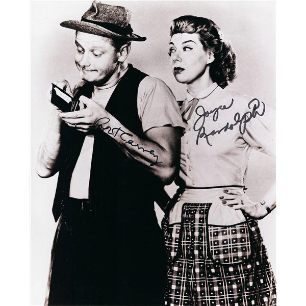 The Honeymooners Art Carney and Joyce Randolph signed photo