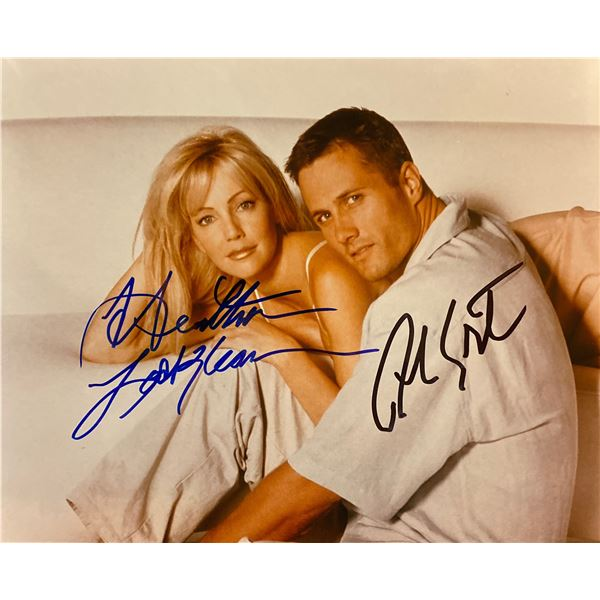 Melrose Place Heather Locklear and Rob Estes signed photo
