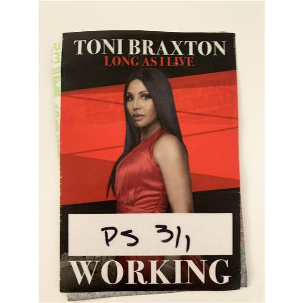 Toni Braxton Long As I Live Working Backstage Pass