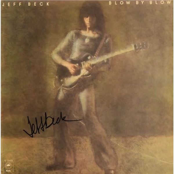 Jeff Beck signed Blow By Blow album