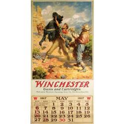 1917 Calendar For Winchester Guns