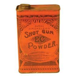 E.C. Shotgun Powder Tin
