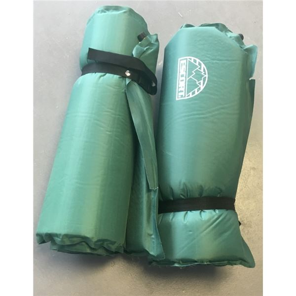 """Two Self Inflating Sleeping Pads, Excort Brand, 20"""" x 72"""""""