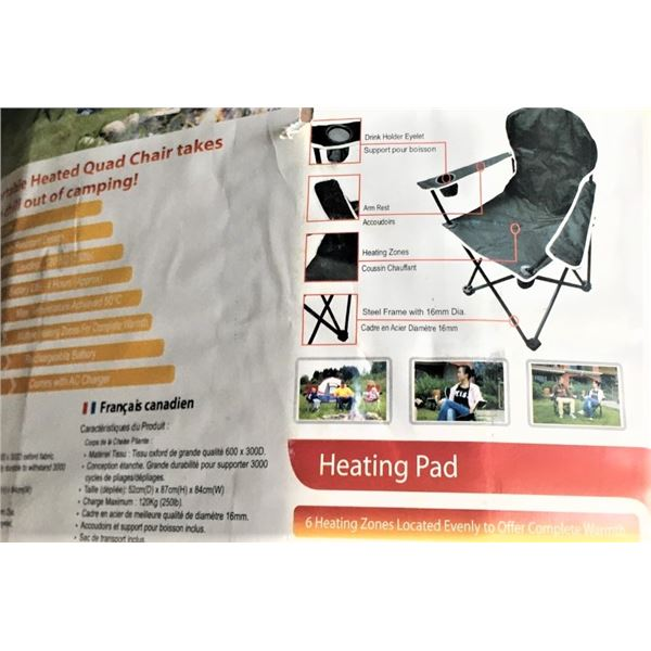 New in Packaging - Heated Quad Camping Chair
