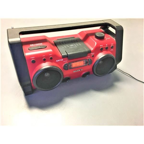 Sony ZSH10CP Portable Heavy Duty CD Radio Boombox Speaker System (Red)