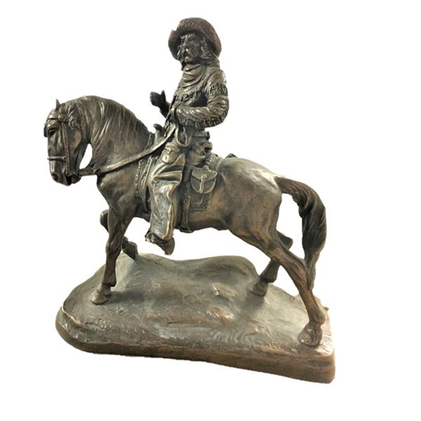 Ceramic Sculpture of Man on Horse