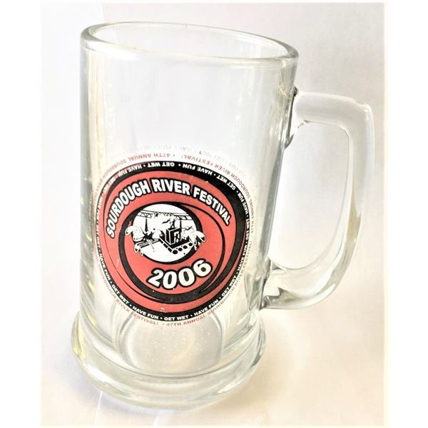 """Sourdough River Festival Beer Glass from 2006, 5.5"""" Height"""