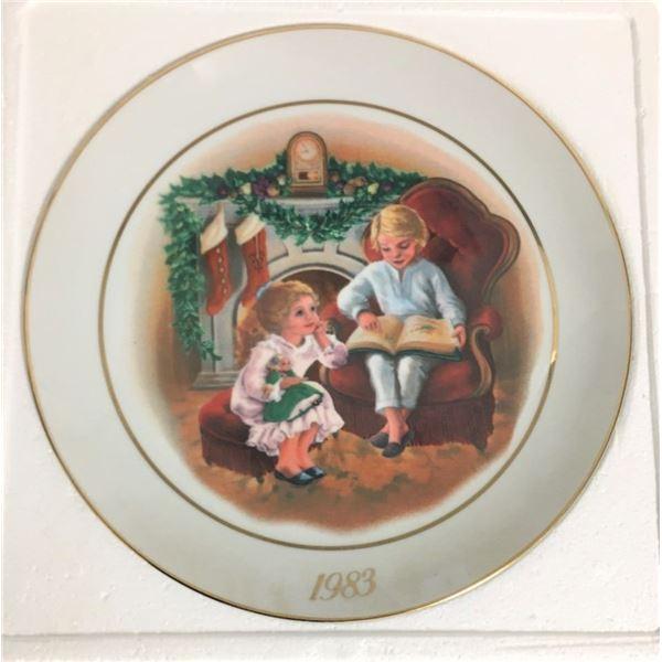 "Decorative Plate 8"" - Avon Christmas Plate 1983"