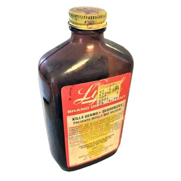 Vintage Glass Jar of Lysol